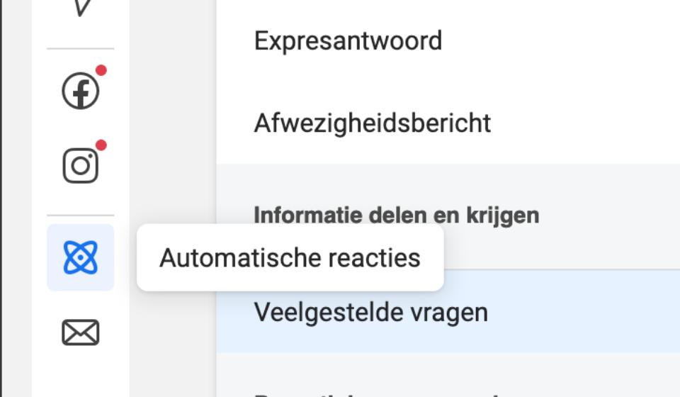 automatische reacties business suite